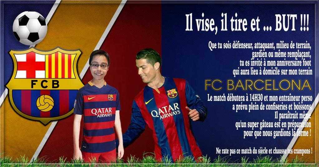 Anniversaire Lucas 10 ans - thème foot Barcel10