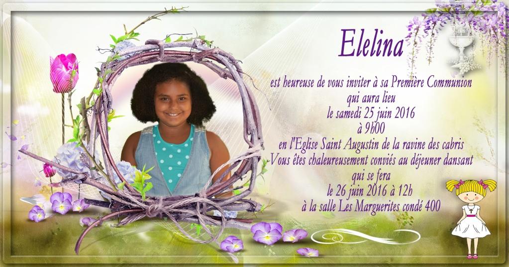 carte invitation et étiquette dragée 1er communion Commun14