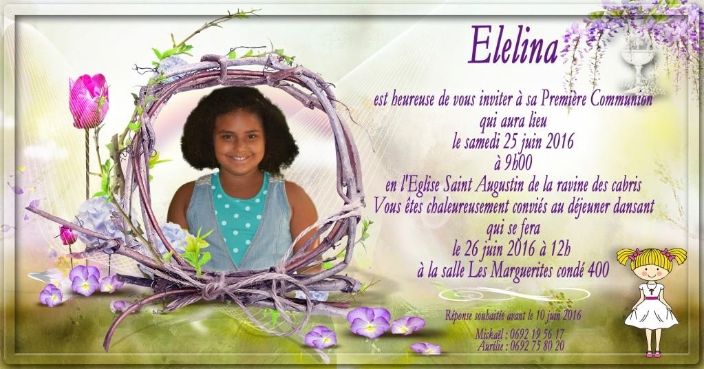 carte invitation et étiquette dragée 1er communion Commun18