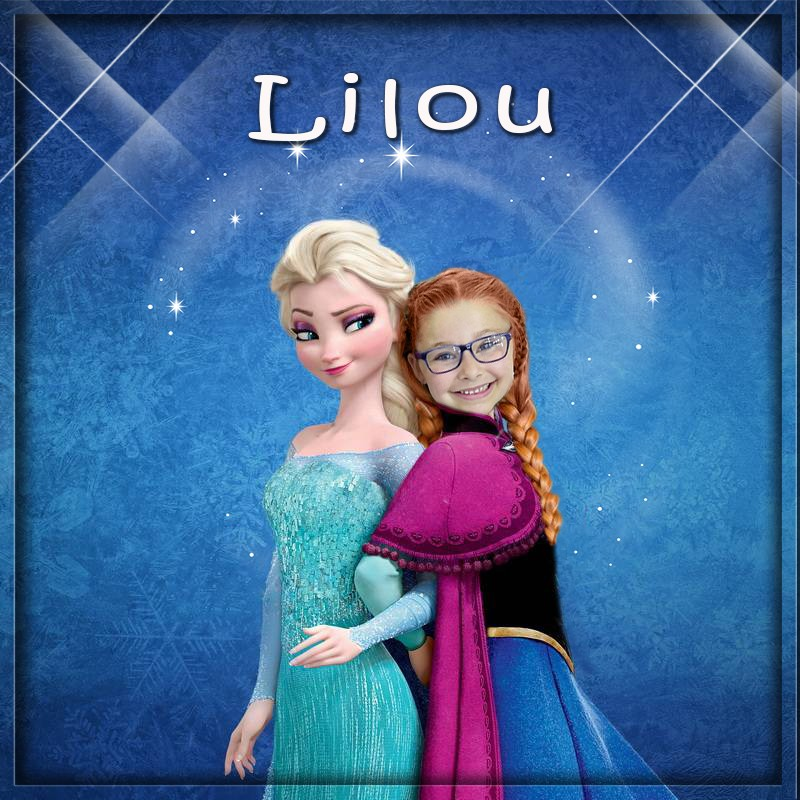montage photo princesse et reine des neiges Fotoob11