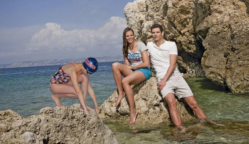 montage photo natation et foot Laure-10