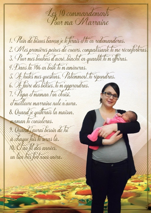 les 10 commandements parrain et marraine Marrai10
