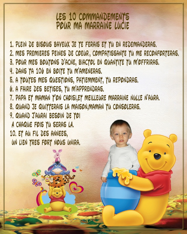 demande 10 commandements parrain marraine Marrai13
