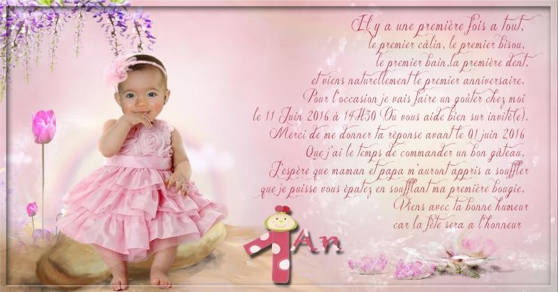 Invitation Anniversaire de ma pepette d'amour Sans_t13
