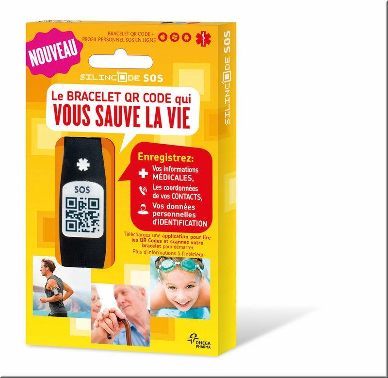 Pack bracelet silincode SOS Omega Pharma Pack_b10