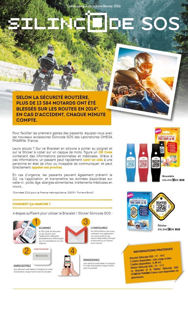 Pack bracelet silincode SOS Omega Pharma Tylych10