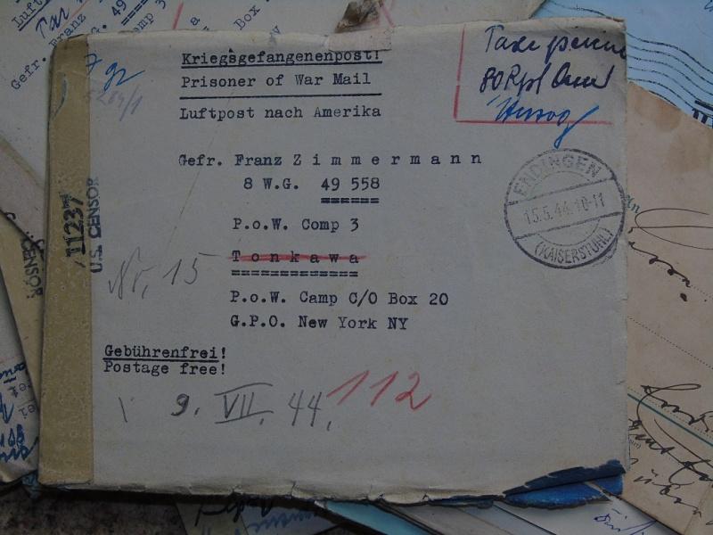 correspondance Prisionnier aux Etats unis du U-Boot 953 recherche avec Feldpost Dsc07425