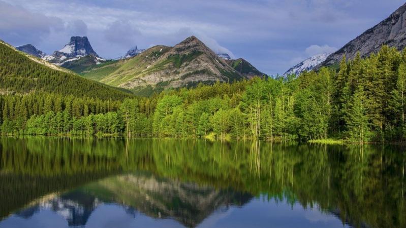 Озеро в лесу 13612610