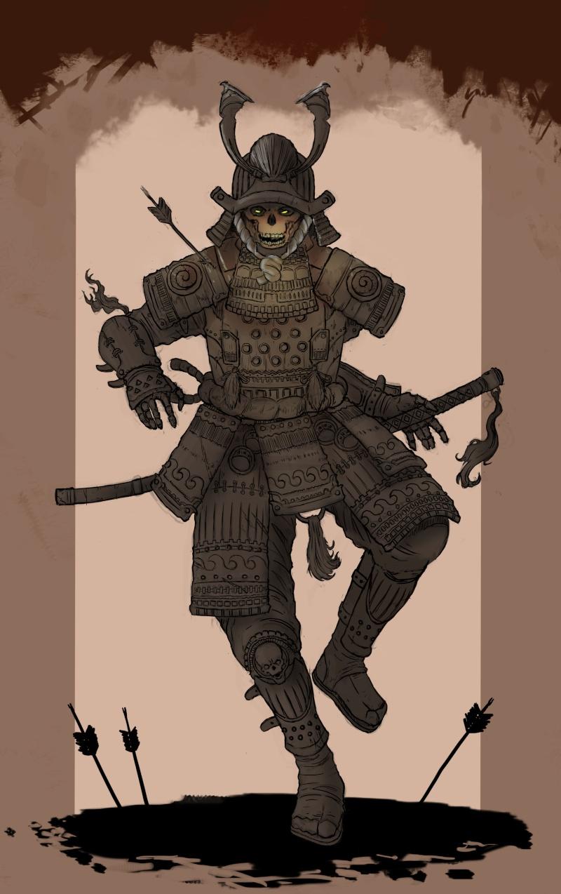 Takeo Hakashi, Cursed Samurai Zombie10