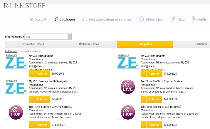 Réponses aux questions que peuvent se poser un(e) futur(e) acheteur(se) de ZOE d'occasion Store10
