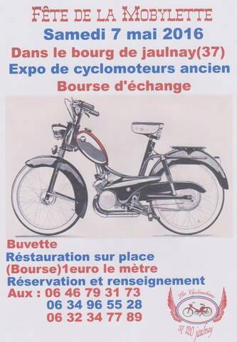 Fête de la mobylette - 7 mai 2016 - Jaulnay (37)
