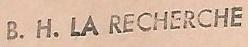 * LA RECHERCHE (1962/1989) * 660210