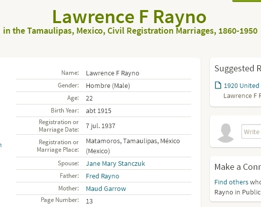 Mariage Lawrence Rayno et Mary Jennie Stanczuk 11885-10