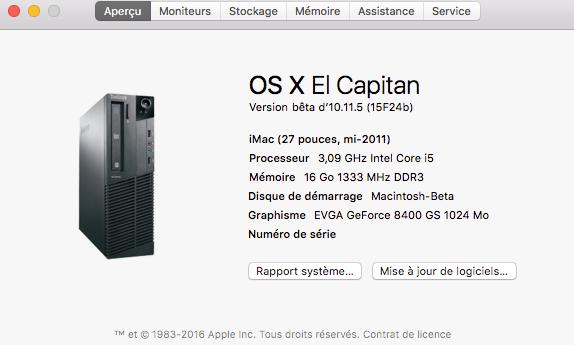 OS X 10.11.5 Beta  Build  15F24b Tt10