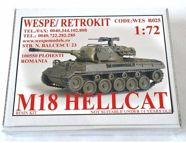 "Wespe M18 ""Hellcat"" Resinbausatz Hellca10"
