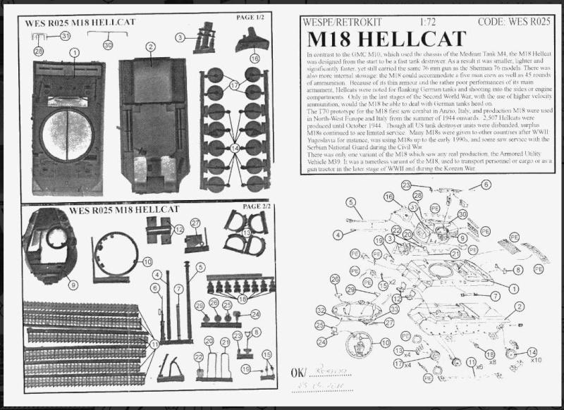 "Wespe M18 ""Hellcat"" Resinbausatz Hellca12"