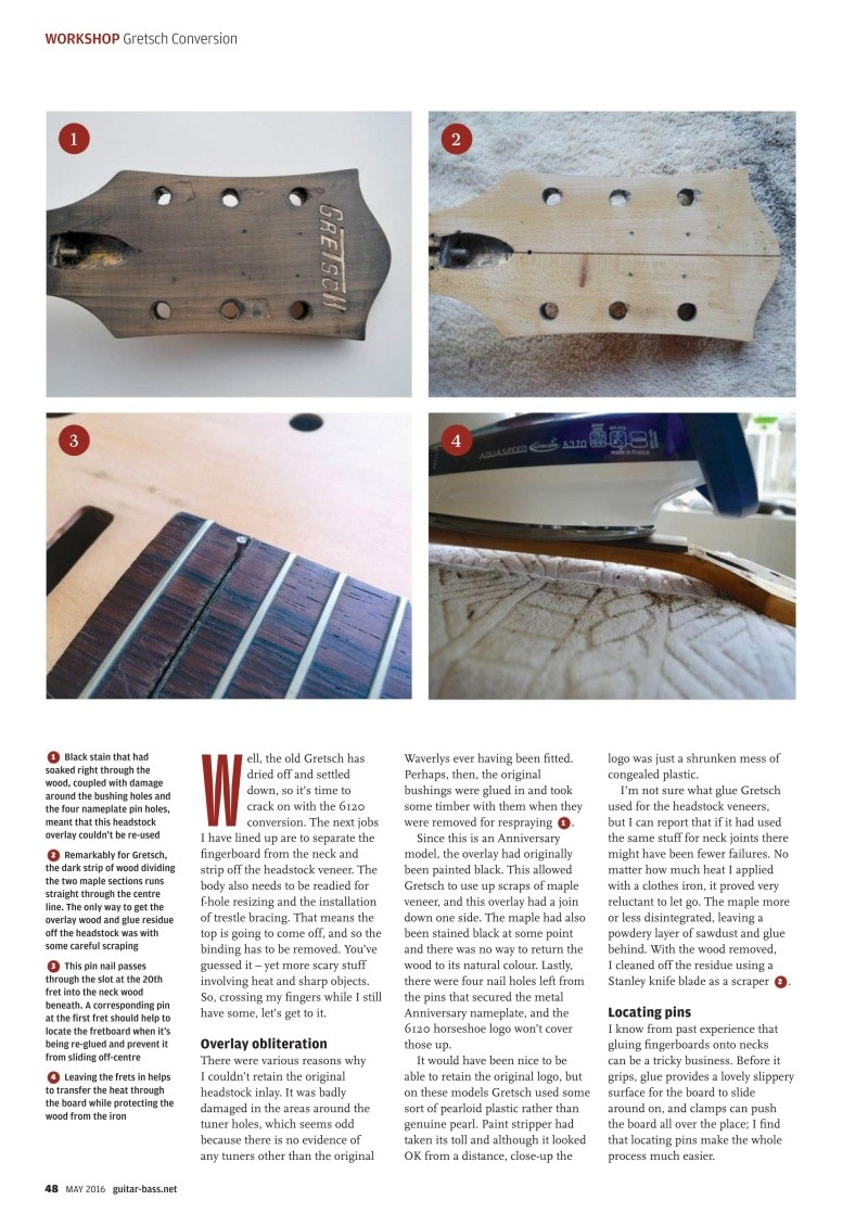 Gretsch Conversion tuto ! Guitar16