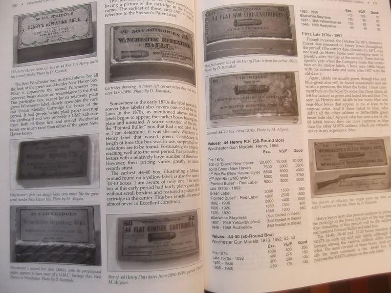 Livre sur les boites de munitions WINCHESTER Dscf4116