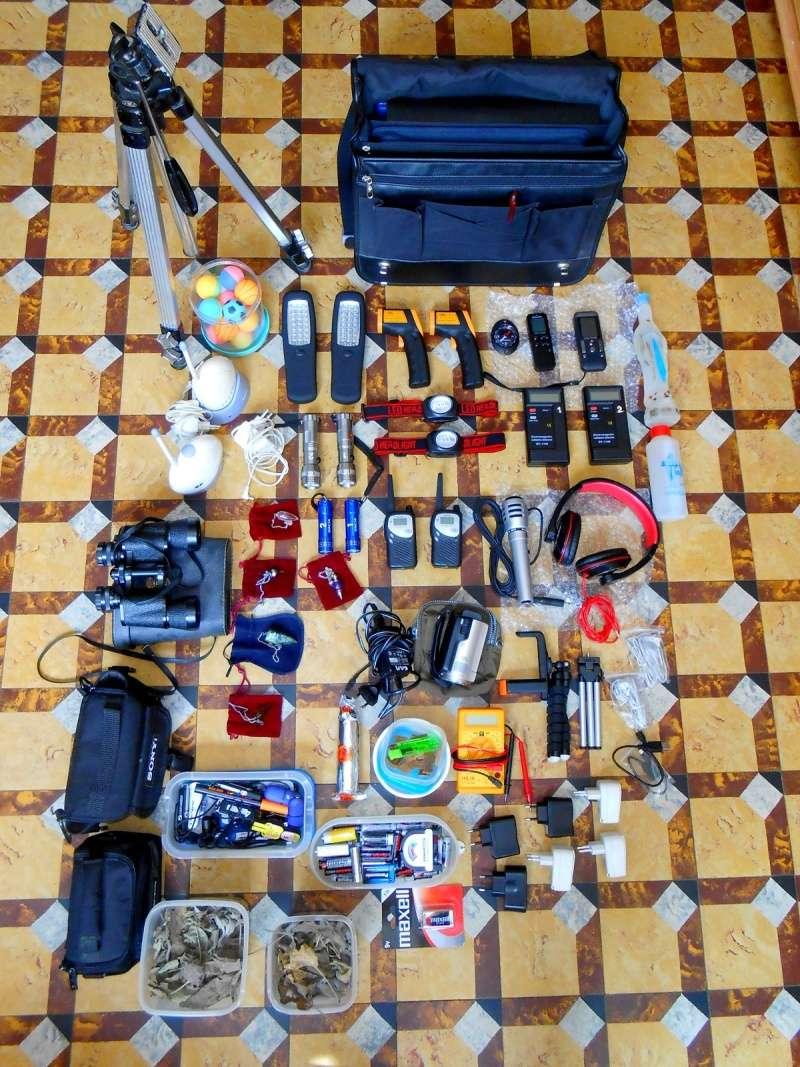 Voici la liste du matériel employé par les enquêteurs lors des enquêtes. Dscn1913