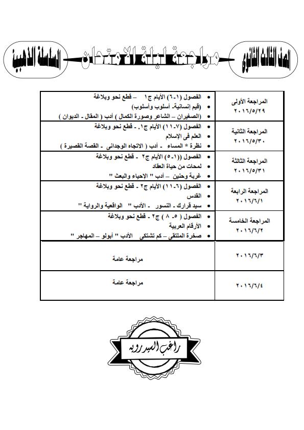 جدول المراجعة النهائية في اللغة العربية للثانوية العامة 2016 Uo_oo_10