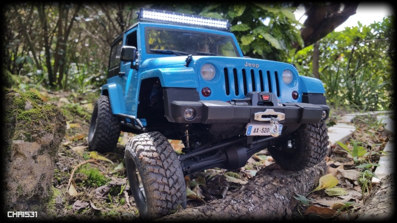 [Axial SCX10] Chris Customs.  Jeep Wrangler Hydro Blue 1010