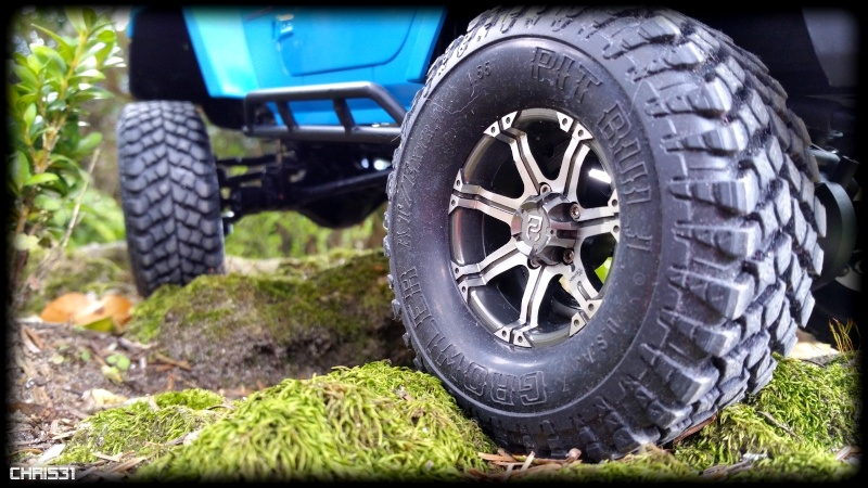 [Axial SCX10] Chris Customs.  Jeep Wrangler Hydro Blue 110