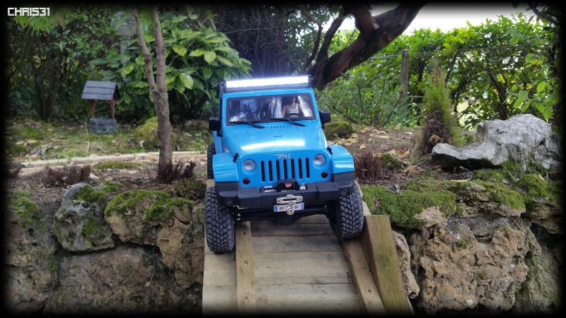 [Axial SCX10] Chris Customs.  Jeep Wrangler Hydro Blue 1310