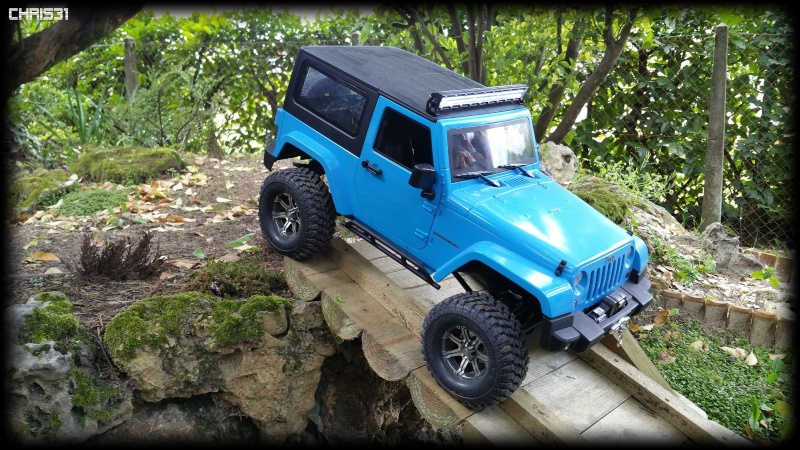 [Axial SCX10] Chris Customs.  Jeep Wrangler Hydro Blue 1410