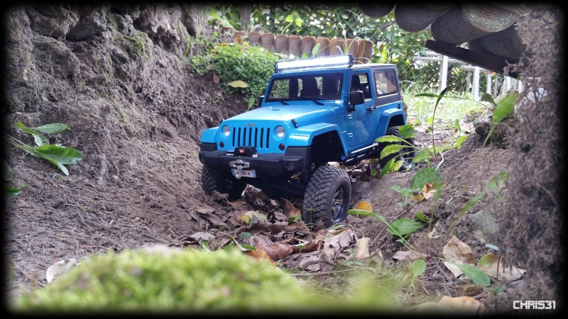 [Axial SCX10] Chris Customs.  Jeep Wrangler Hydro Blue 1710
