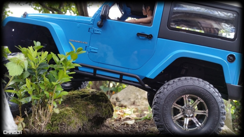 [Axial SCX10] Chris Customs.  Jeep Wrangler Hydro Blue 1910