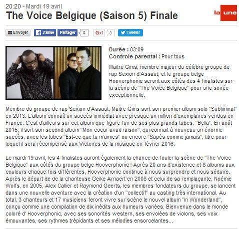 [19/04/2016-20h20] RTBF La Une - The Voice Belgique - Finale The_vo12