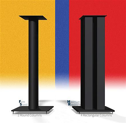 Speaker Stand 2Ft Tall with Spikes, customizable. Round Pillar / 4-Columns Stand10