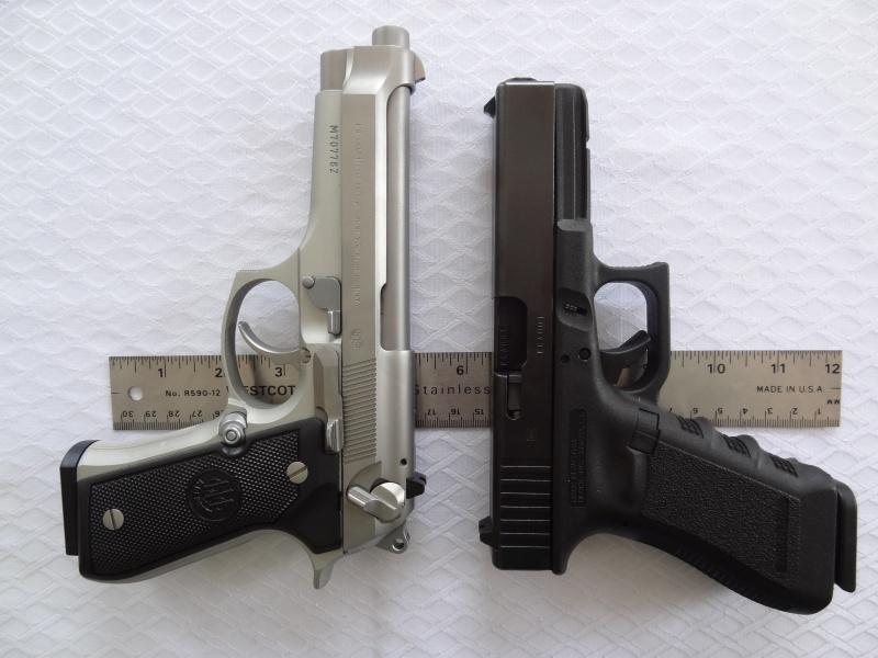 """Side by Side: Beretta """"92FS Inox"""" vs Glock """"G22 gen 3""""  24-gri11"""