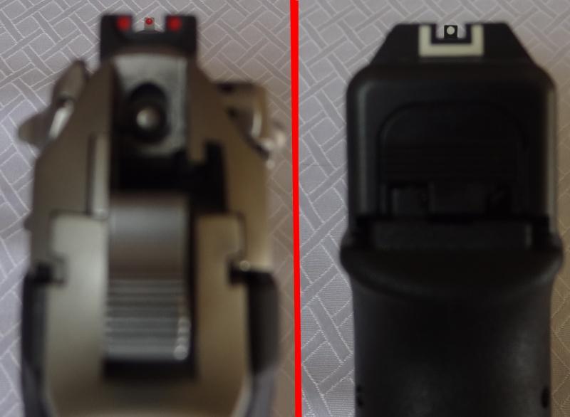 """Side by Side: Beretta """"92FS Inox"""" vs Glock """"G22 gen 3""""  9-sigh10"""