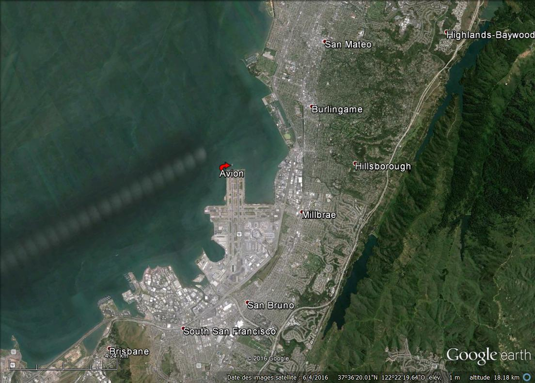 "Aéroport San Francisco 37°36'43.86""N 122°21'19.68""W Av810"