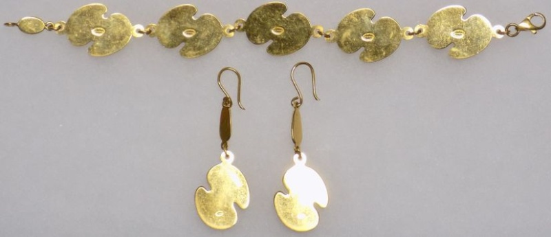 Necklace, Bracelet and Earrings for gold donation Bracel11