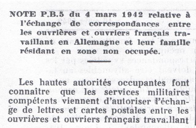 Entier Pétain 1F20 oblitération bouchon pour un STO. Ccf12010