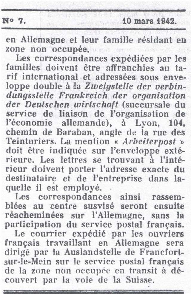 Entier Pétain 1F20 oblitération bouchon pour un STO. Ccf12011