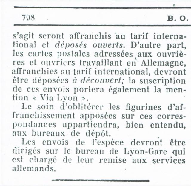 Entier Pétain 1F20 oblitération bouchon pour un STO. Ccf12013
