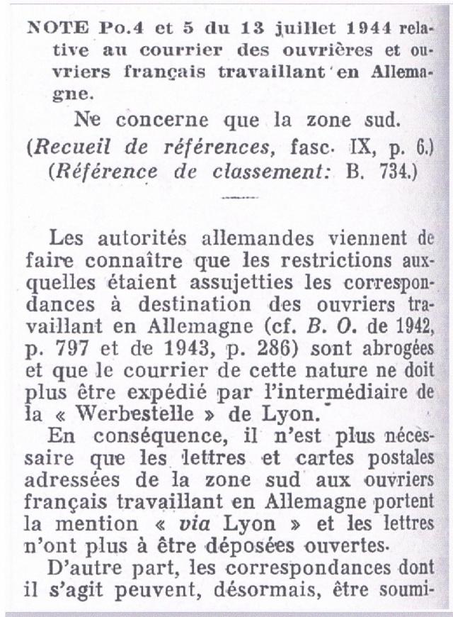Entier Pétain 1F20 oblitération bouchon pour un STO. Ccf12014