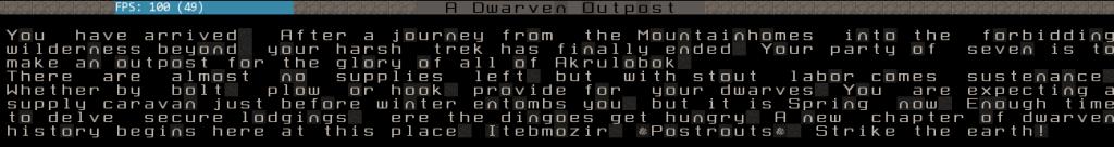 """Itebmozir, """"Postrouts"""" A Dwarf Fortress Story Dwarve11"""
