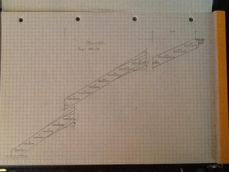 Escalier provisoire devenu définitif en pin sylvestre, à double balancements Image14
