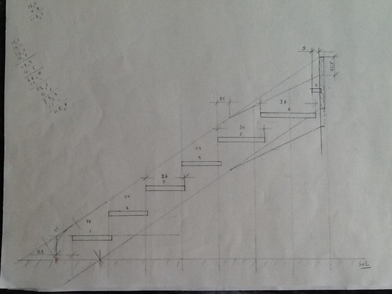 Escalier provisoire devenu définitif en pin sylvestre, à double balancements Image17