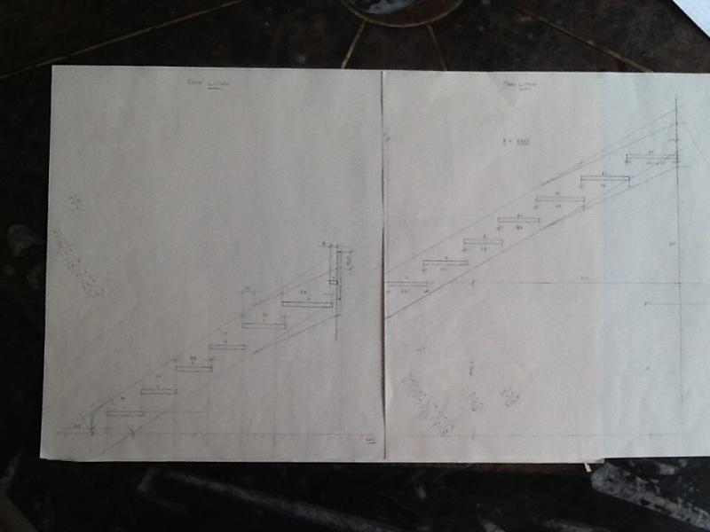 Escalier provisoire devenu définitif en pin sylvestre, à double balancements Image18