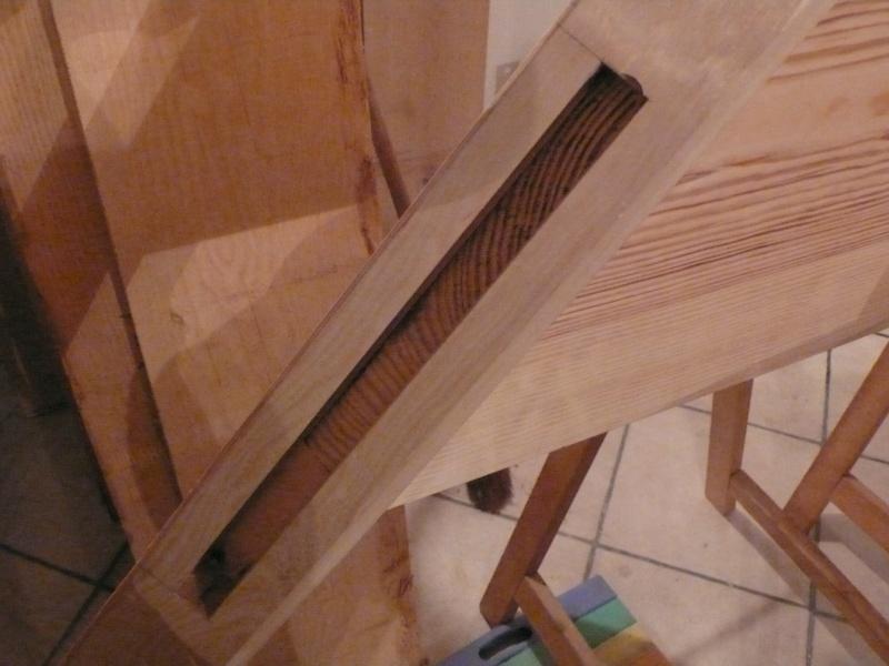 Escalier provisoire devenu définitif en pin sylvestre, à double balancements - Page 3 Image38