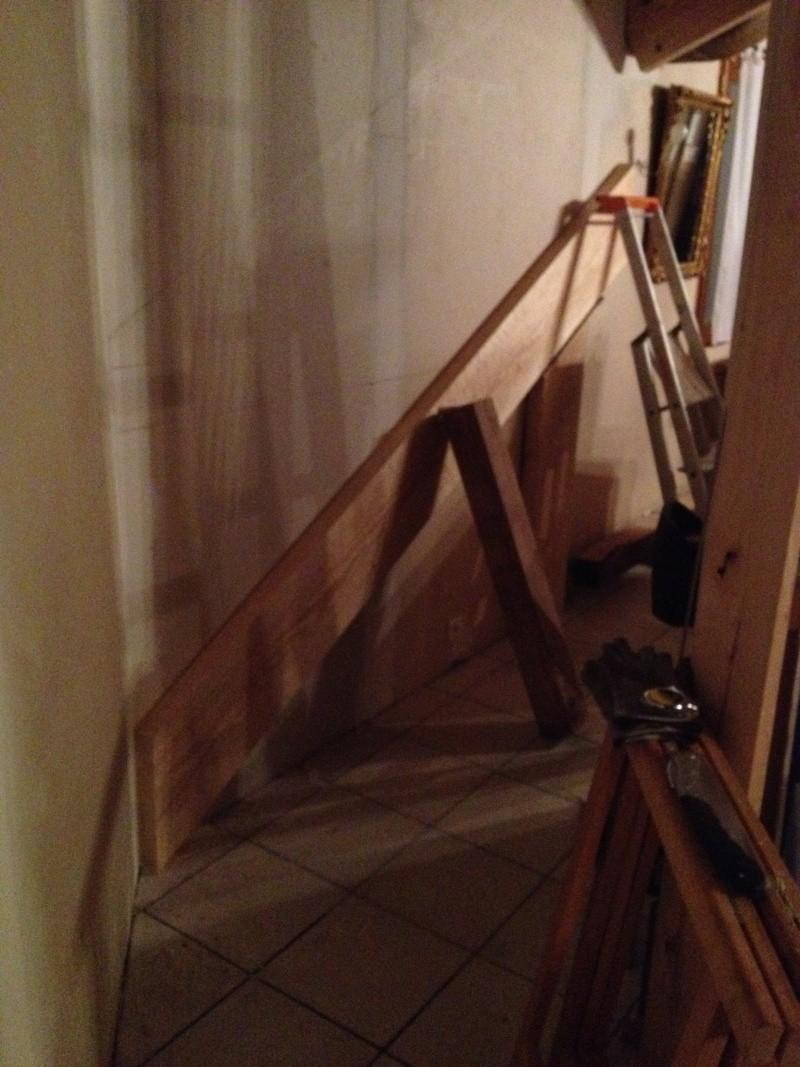 Escalier provisoire devenu définitif en pin sylvestre, à double balancements Img_0816