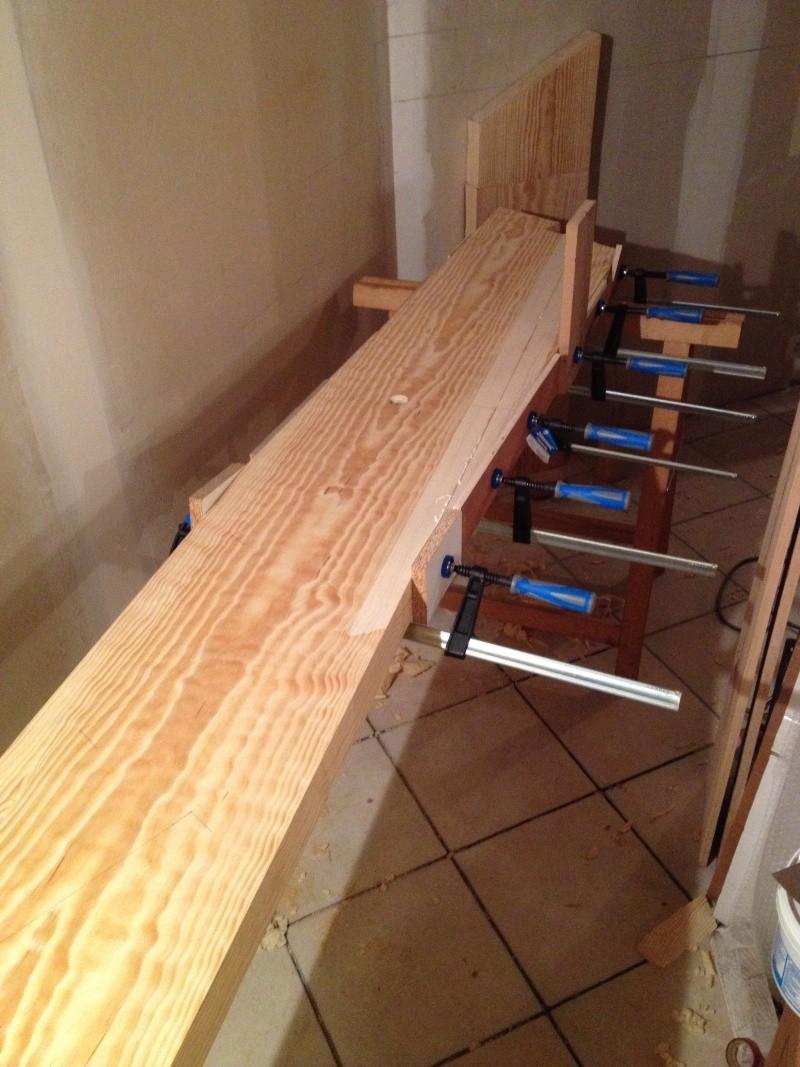 Escalier provisoire devenu définitif en pin sylvestre, à double balancements Img_0820