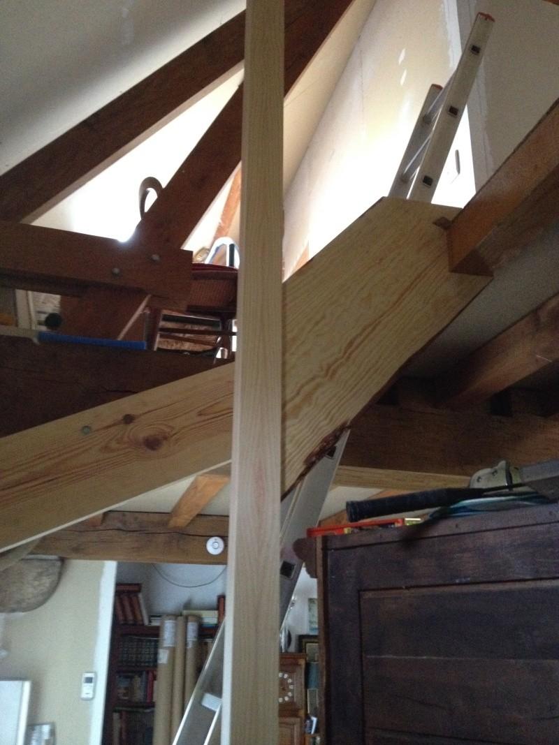 Escalier provisoire devenu définitif en pin sylvestre, à double balancements - Page 2 Img_0828