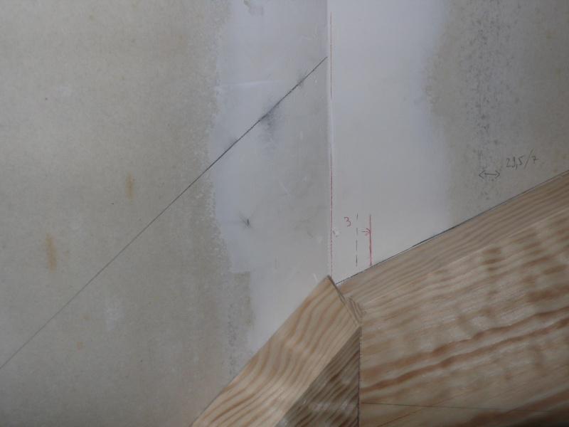 Escalier provisoire devenu définitif en pin sylvestre, à double balancements L1040520