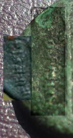 Petit bronze contremarqué pour Colophon en Ionie ... Franci10